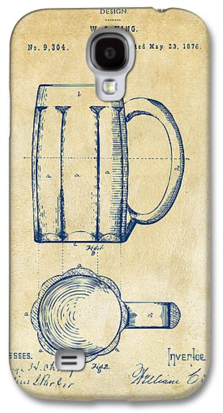 1876 Beer Mug Patent Artwork - Vintage Galaxy S4 Case by Nikki Marie Smith