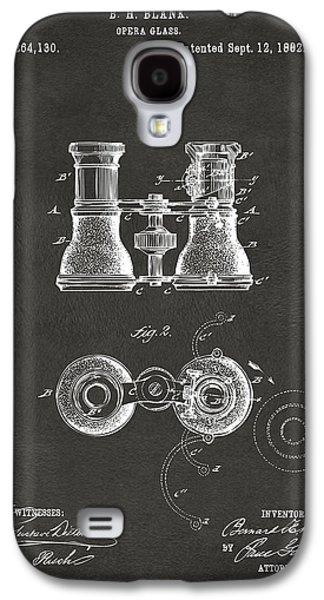 1882 Opera Glass Patent Artwork - Gray Galaxy S4 Case
