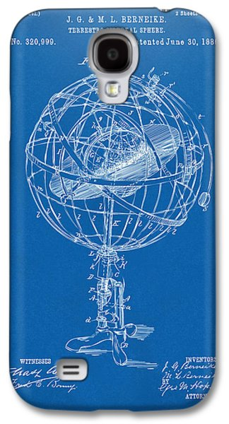1885 Terrestro Sidereal Sphere Patent Artwork - Blueprint Galaxy S4 Case