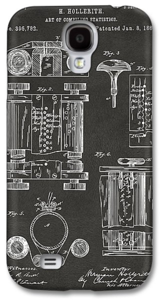 1889 First Computer Patent Gray Galaxy S4 Case by Nikki Marie Smith