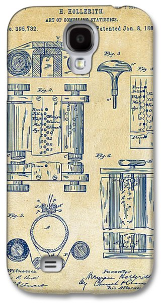 1889 First Computer Patent Vintage Galaxy S4 Case