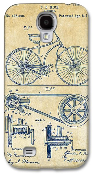 1890 Bicycle Patent Artwork - Vintage Galaxy S4 Case by Nikki Marie Smith