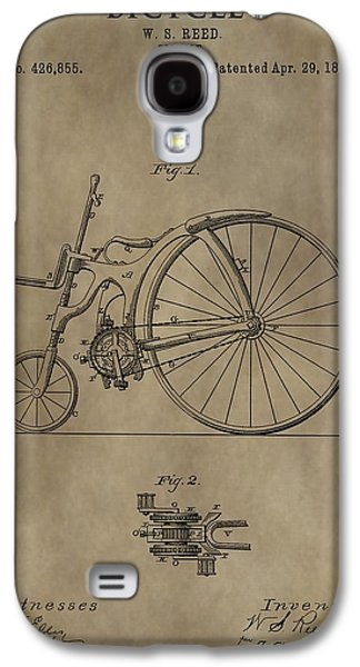 1890 Bicycle Patent Galaxy S4 Case by Dan Sproul