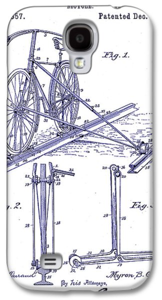 1891 Bicycle Patent Blueprint Galaxy S4 Case