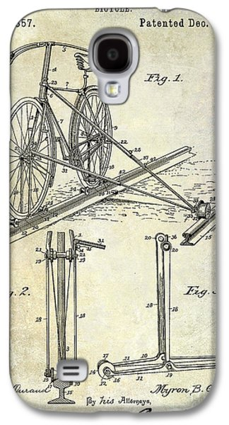1891 Bicycle Patent Drawing Galaxy S4 Case