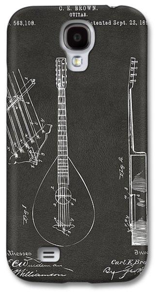 1896 Brown Guitar Patent Artwork - Gray Galaxy S4 Case