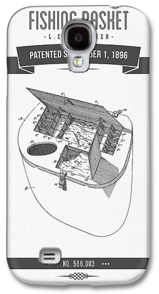 1896 Fishing Basket Patent Drawing Galaxy S4 Case by Aged Pixel