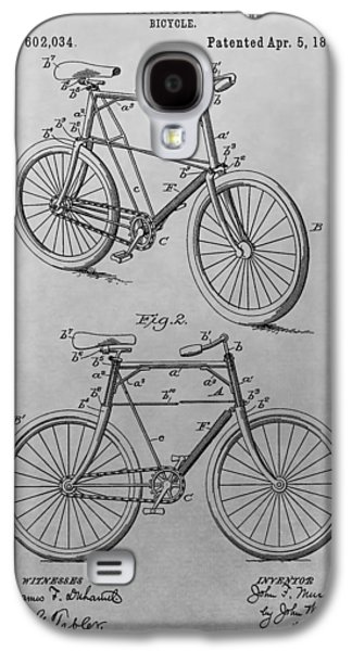 1898 Bicycle Patent Drawing Galaxy S4 Case by Dan Sproul