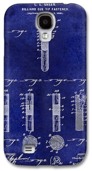 1899 Billiard Cue Tip Fastener Blue Galaxy S4 Case by Jon Neidert