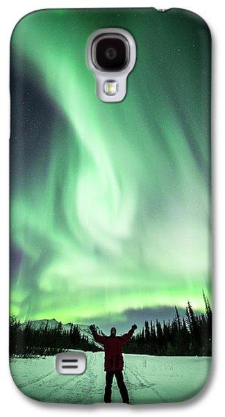 Aurora Borealis In Alaska Galaxy S4 Case by Chris Madeley