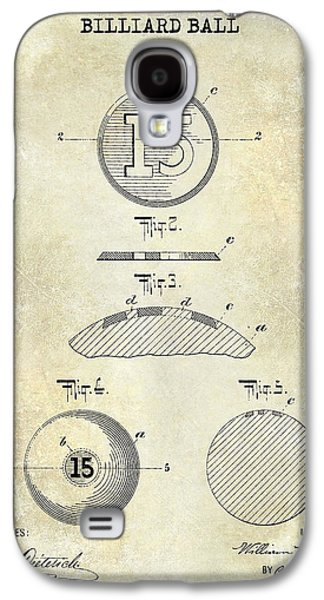 1902 Billiard Ball Patent Drawing Galaxy S4 Case by Jon Neidert