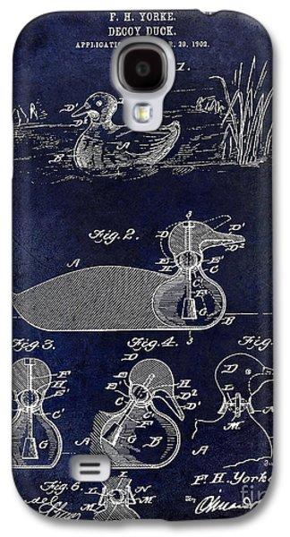 1902 Duck Decoy Patent Drawing Galaxy S4 Case by Jon Neidert