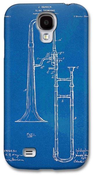 Trombone Galaxy S4 Case - 1902 Slide Trombone Patent Blueprint by Nikki Marie Smith