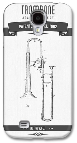 1902 Trombone Patent Drawing Galaxy S4 Case by Aged Pixel
