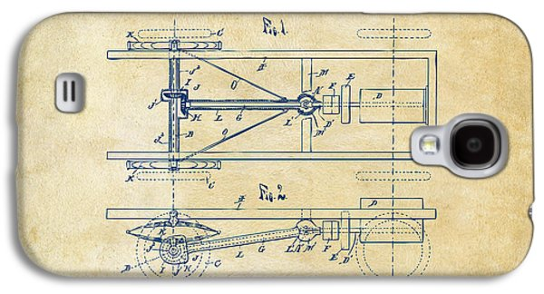 1903 Henry Ford Model T Patent Vintage Galaxy S4 Case by Nikki Marie Smith