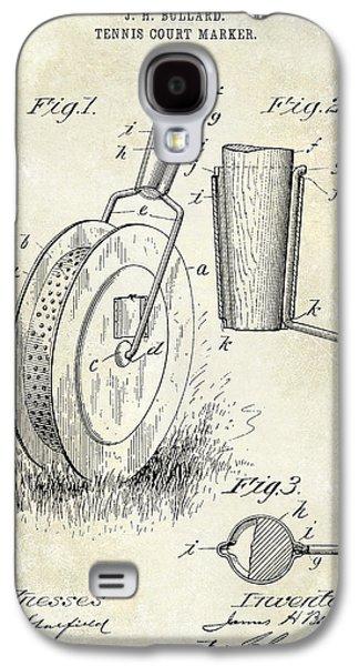 1903 Tennis Court Marker Patent Drawing Galaxy S4 Case by Jon Neidert