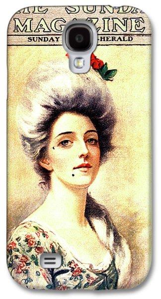 1905 Magazine Cover Portrait Of 1700s Galaxy S4 Case