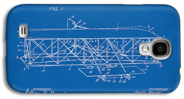 1906 Wright Brothers Flying Machine Patent Blueprint Galaxy S4 Case by Nikki Marie Smith