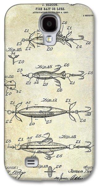 1907 Fishing Lure Patent Galaxy S4 Case by Jon Neidert