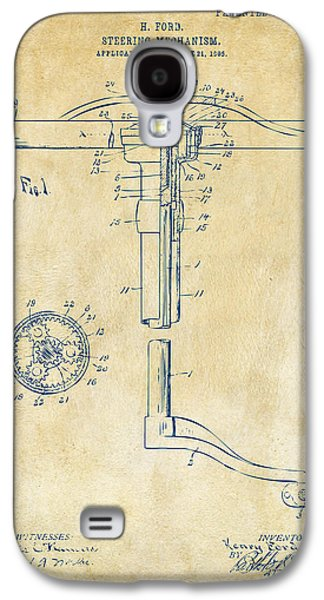 1907 Henry Ford Steering Wheel Patent Vintage Galaxy S4 Case by Nikki Marie Smith