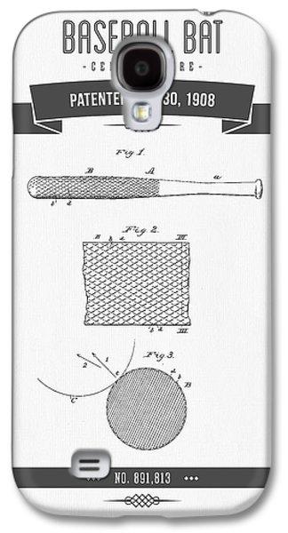 1908 Baseball Bat Patent Drawing Galaxy S4 Case by Aged Pixel