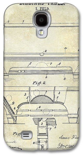 1909 Billiard Table Patent Drawing  Galaxy S4 Case by Jon Neidert
