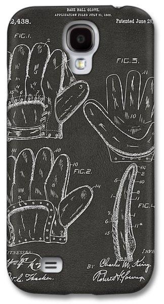 1910 Baseball Glove Patent Artwork - Gray Galaxy S4 Case