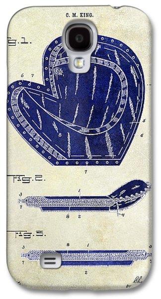 1910 Baseball Patent Drawing 2 Tone Galaxy S4 Case by Jon Neidert