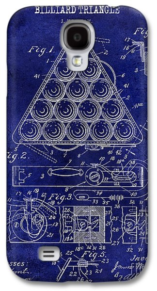 1910 Billiard Triangle Patent Drawing Blue Galaxy S4 Case by Jon Neidert