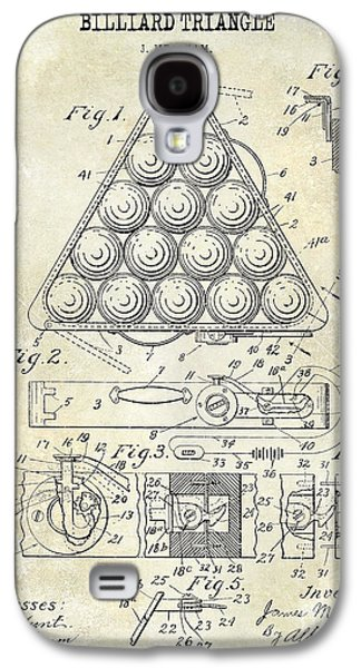 1910 Billiard Triangle Patent Drawing Galaxy S4 Case by Jon Neidert