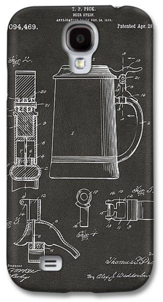 1914 Beer Stein Patent Artwork - Gray Galaxy S4 Case by Nikki Marie Smith