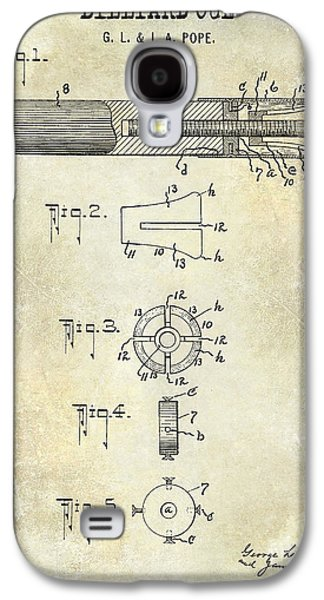 1915 Billiard Cue Patent Drawing  Galaxy S4 Case by Jon Neidert