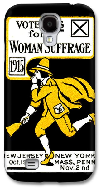 1915 Vote Yes On Woman's Suffrage Galaxy S4 Case by Historic Image