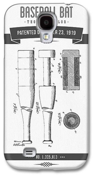 1919 Baseball Bat Patent Drawing Galaxy S4 Case by Aged Pixel