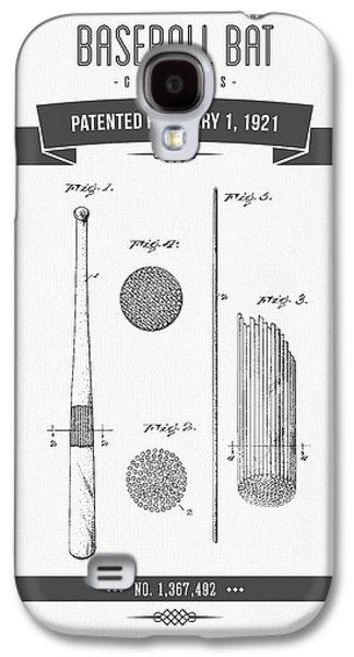 1921 Baseball Bat Patent Drawing Galaxy S4 Case by Aged Pixel