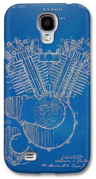 1923 Harley Davidson Engine Patent Artwork - Blueprint Galaxy S4 Case