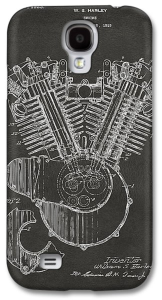 1923 Harley Engine Patent Art - Gray Galaxy S4 Case by Nikki Marie Smith