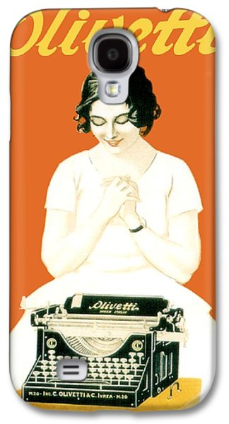 1924 - Olivetti Typewriter Advertisement Poster - Color Galaxy S4 Case by John Madison