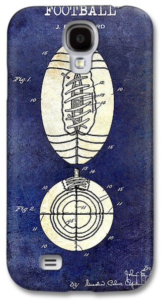 1925 Football Patent Drawing 2 Tone Blue Galaxy S4 Case