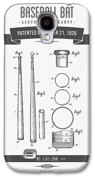 1926 Baseball Bat Patent Drawing Galaxy S4 Case by Aged Pixel