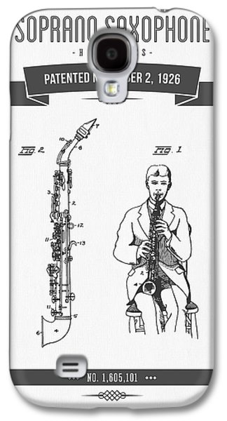 1926 Soprano Saxophone Patent Drawing Galaxy S4 Case by Aged Pixel