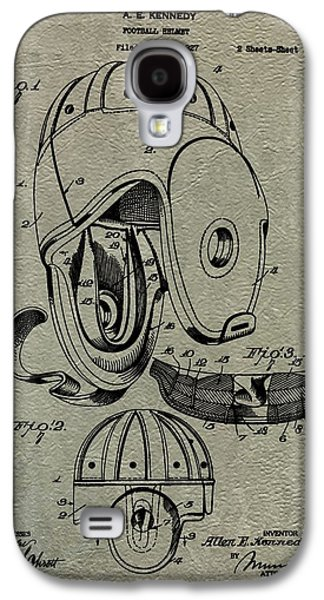 1927 Football Helmet Patent Galaxy S4 Case by Dan Sproul