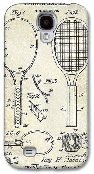 1927 Tennis Racket Patent Drawing  Galaxy S4 Case by Jon Neidert