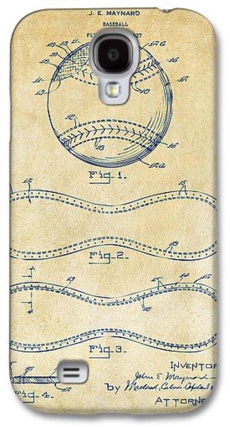 1928 Baseball Patent Artwork Vintage Galaxy S4 Case