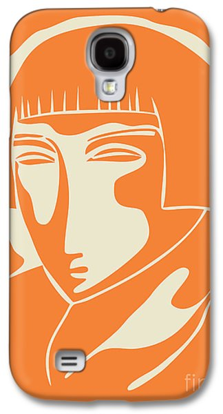 1928 Woman Face   Orange Galaxy S4 Case by Igor Kislev