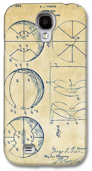 1929 Basketball Patent Artwork - Vintage Galaxy S4 Case by Nikki Marie Smith