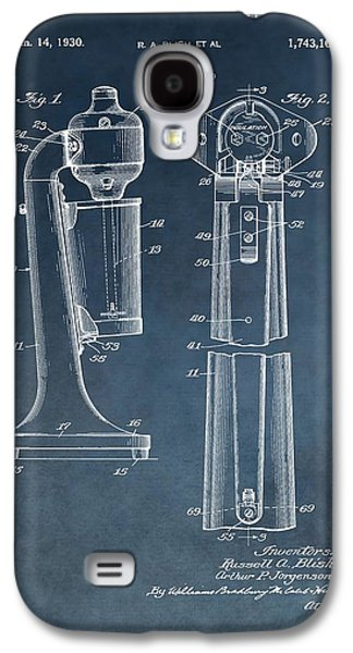 1930 Drink Mixer Patent Blue Galaxy S4 Case by Dan Sproul