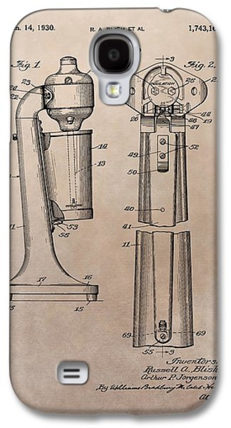 1930 Drink Mixer Patent Galaxy S4 Case by Dan Sproul