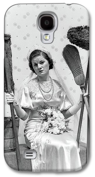 1930s Bride Seated Next To Bucket Galaxy S4 Case
