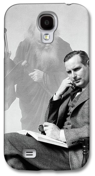 1930s Man In Suit Seated With Book Galaxy S4 Case